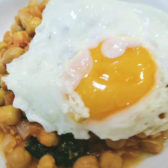 Chickpeas and Fried Eggs